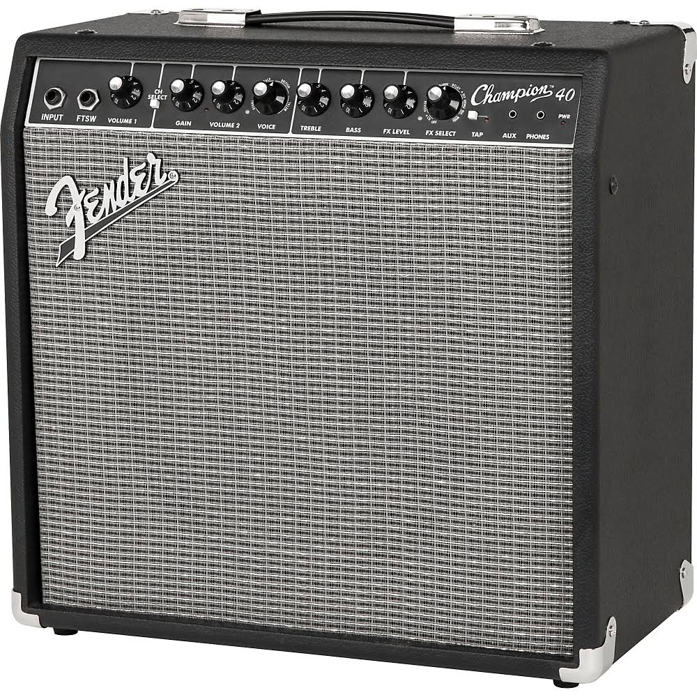 fender champion 40 40w guitar combo amp with effects sight sound music. Black Bedroom Furniture Sets. Home Design Ideas