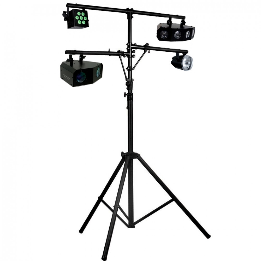 Tripod lighting stand wtih top t bar and 2 side arms sight sound description reviews aloadofball Choice Image