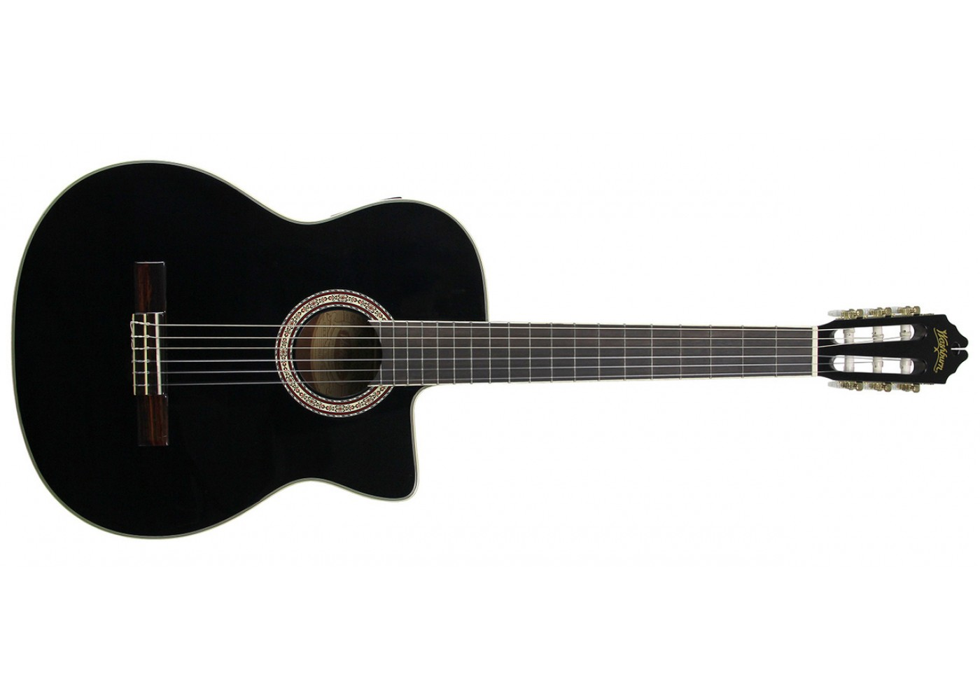 washburn c5ceb acoustic electric classical nylon string guitar black finish sight sound music. Black Bedroom Furniture Sets. Home Design Ideas