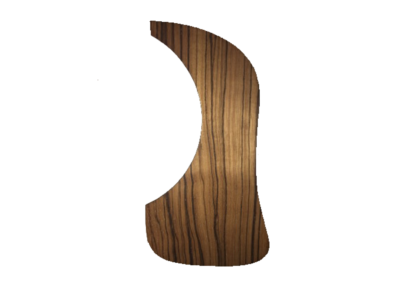 Custom Hawaiian Zebra Wood Acoustic Guitar Pickguard