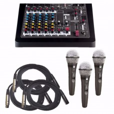 Allen & Heath ZEDi-10 Package SMR RT-15 Mics & 10' Cables