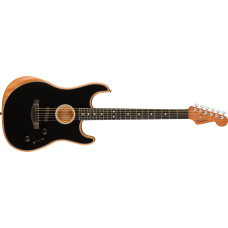 Fender  American Acoustasonic Strat Ebony Fingerboard Black with Bag