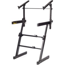 Hercules KS410B Z Style Keyboard Stand with 2nd Tier and Auto-Lock