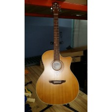 Used  -  Luna  Heartsong  Grand  Concert  Electric  Acoustic  Guitar
