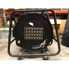 Used - AV Link 100' 24 Channel 20X4 Snake W/ Reel