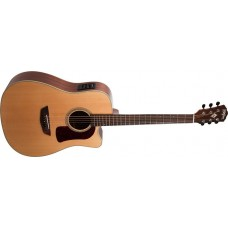 Demo - Washburn HD100SWCEK-D Heritage Dreadnought Cutaway Electric