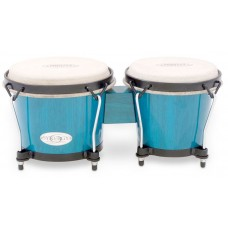 Toca Players Series 2100 Bongos Size Natural Wood Bahama Blue Finish