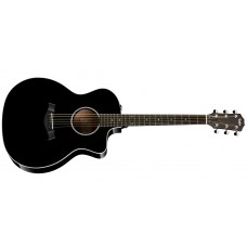 Taylor  214CE-DLX-BLK  Grand  Auditorium  Electric  Acoustic  Guitar