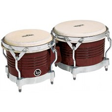 LP Latin Percussion Matador Wood Bongos (7 1/4 & 8 5/8 inch) Brown