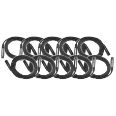 EXO Cable 10 Foot XLR Microphone Cable 10 Pack