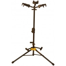 Hercules Hanging Auto Locking Tri AGS Triple Guitar Stand Black