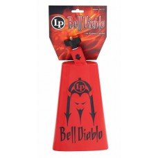 Lp Latin Percussion Bell Diablo Cowbell Red with Black Devil Graphics