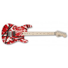 EVH  Stripe  Series  Electric  Guitar  Red  with  White  and  Black  Stripe