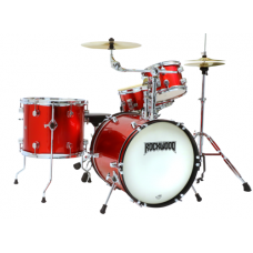 Rockwood RWDSR 4 Piece Junior Drum Set with Hardware and Cymbals Metallic R