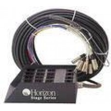 Horizon Stage Series Snake 100 Foot 8 Channel with Speaker Lines