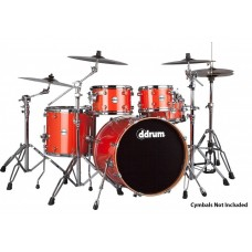 Rental- ddrum Reflex 522 5PC 5 Piece Drum Set Orange Sparkle