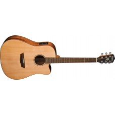 Open Box - Washburn Solid Wood WD150SWCE Dreadnought Acoustic Electric Guit