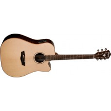 Washburn  WD250SWCE    All  Solid  Wood  Dreadnought  Acoustic  Electric  G