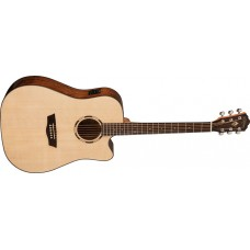 Washburn WLD10SCE Woodline Dreadnought Solid Spruce Top Cutaway Acoustic El