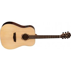 Washburn WLD20S WoodLine Dreadnought Solid Spruce Top Acoustic Guitar Natur