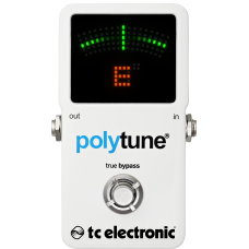 Rental-Tc Electric Polytune poly-chromatic tuner guitar pedal