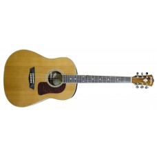 Washburn WSJ60SKELITE Solid Cedar Top Southern Jumbo Acoustic Guitar with C