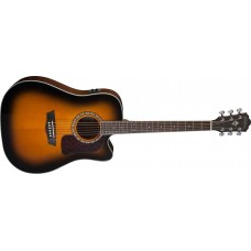 Washburn HD10SCETB-O Heritage Series Dreadnought Cutaway Electric