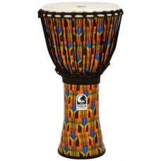 Toca Synergy Freestyle Djembe Rope Tuned 12 inch Kente Pattern Finish