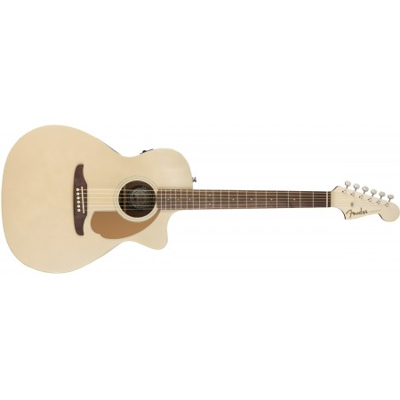 Fender Newporter Player Solid Spruce Top and Walnut Fretboard in Champagne