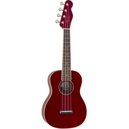 Fender Zuma Classic Concert Ukulele Walnut Fingerboard Candy Apple Red
