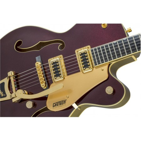 Open Box - Gretsch G5420T Electromatic Series 135th Anniversary Hollow Body Electric Guitar Gold Hardware Bigsby Two-Tone Dark Cherry