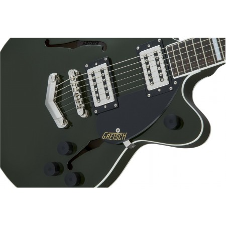Gretsch G2655 Streamliner Center Block Jr. Double Cut Electric Guitar Broad Tron Pickups V Stoptail Torino Green
