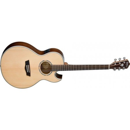 Open Box - Washburn EA20SNB-O Festival Florentine Acoustic Electric Cutaway