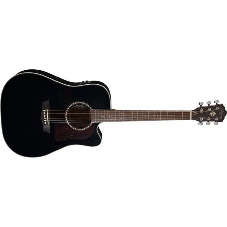 Open Box - Washburn HD10SCEB-O Heritage Series Dreadnought Cutaway Acoustic Electric Guitar