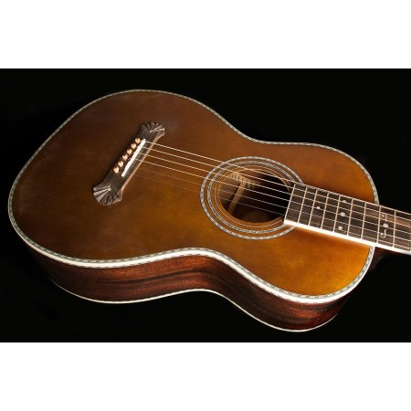 Washburn R314K Parlor Acoustic Guitar Spruce Top Trembesi Back and Sides Includes Factory Hardshell Case