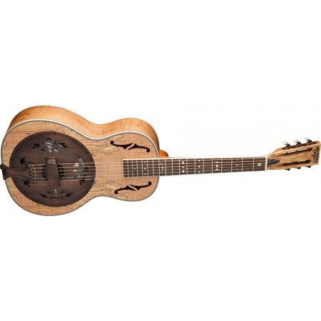 Washburn R360SMK-R Parlor Biscuit Resonator Spalted maple top