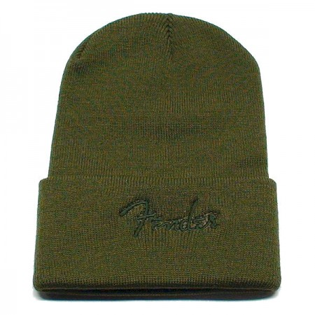 Fender Olive Beanie Winter Hat