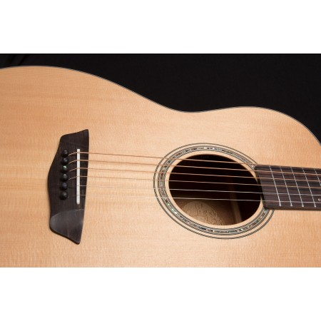 Demo - Washburn WLO100SWEK Woodline Solid Wood Series Orchestra Body Acoustic Electric Guitar with Factory Case