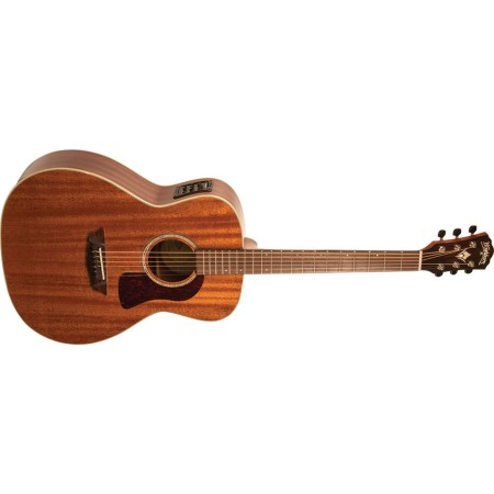 Demo - Washburn HG120SWEK Heritage Solid Mahogany Series Grand Auditorium Acoustic Electric Guitar with Factory Case