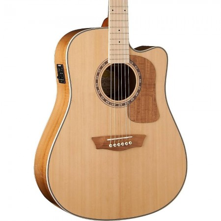 Washburn WCSD50SCEK Solid Sitka Spruce Top Koa Back Sides with Gig Bag
