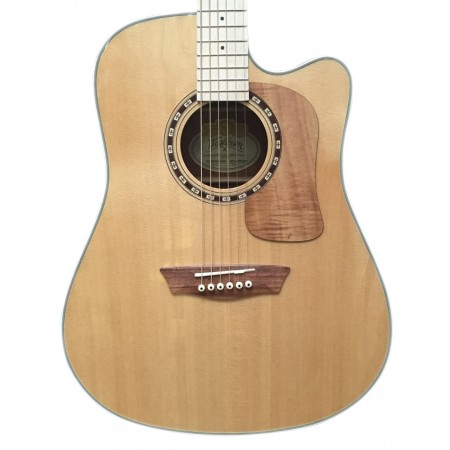B - Stock Washburn WCSD50SCEK Solid Sitka Spruce Top Koa Back Sides with Gig Bag