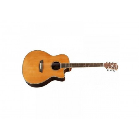 Rental-Washburn WG026S Grand Auditorium Acoustic Guitar Solid Cedar Top Rosewood Back and Sides