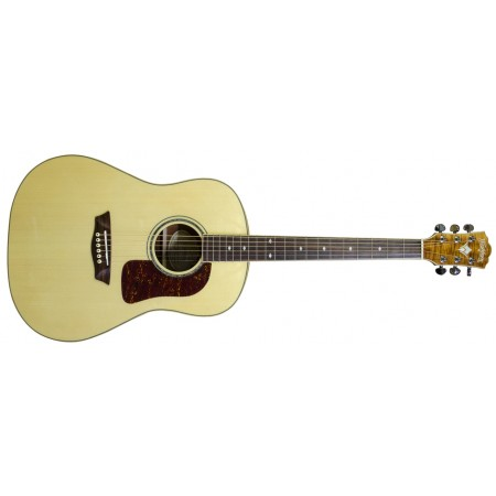 Washburn WSJ50SKELITE Solid Spruce Top Southern Jumbo Acoustic Guitar With Case