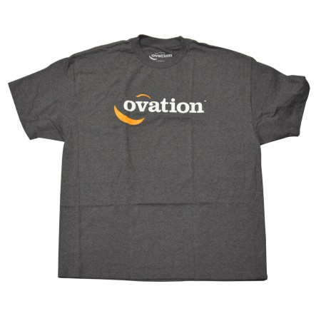 Ovation Logo Tee Shirt - Charcoal - Large