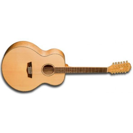 Rental- Washburn WD30S12 Dreadnought Acoustic 12 String Guitar Solid Spruce Top Tamo Ash Back and Sides