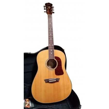 Washburn WSJ60SKELITE Solid Cedar Top Southern Jumbo Acoustic Guitar with Case