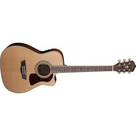 Open Box - Washburn HF11SCE-O Heritage Series Folk Cutaway electric Solid Cedar top