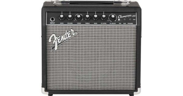 rental fender champion 20 20w guitar combo amp with effects sight sound music. Black Bedroom Furniture Sets. Home Design Ideas