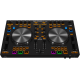 4-Deck DJ MIDI Controller with 4-Channel Audio Int..